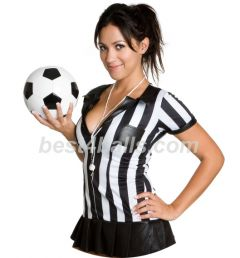 Cute Sexy Football Ref Woman Lady Stag Do Personalised Golf Balls | Best4Balls