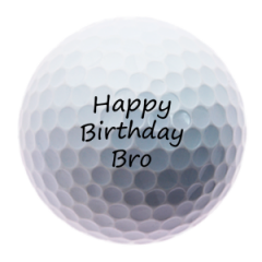 Happy Birthday Brother personalised golf balls | Best4Balls