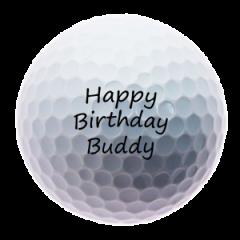 Happy Birthday Buddy personalised golf balls | Best4Balls
