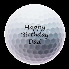 Happy Birthday Dad personalised golf balls | Best4Balls