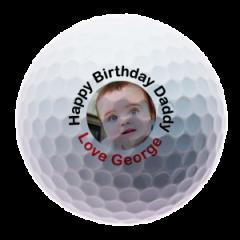 Happy Birthday Daddy Personalised Golf Balls | Best4Balls
