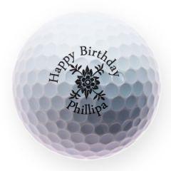 Personalised Happy Birthday golf balls | Best4Balls