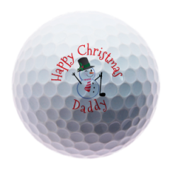 Snowman for Dad personalised golf balls | Best4Balls