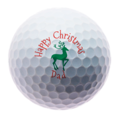 Christmas Reindeer for Dad personalised golf balls | Best4Balls