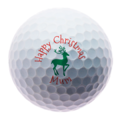 Christmas Reindeer for Mum personalised golf balls | Best4Balls