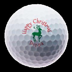 Personalised reindeer golf balls | Best4Balls