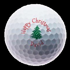 Christmas Tree personalised golf balls | Best4Balls