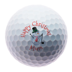 Snowman for Mum personalised golf balls | Best4Balls
