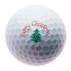 Christmas Tree for Dad personalised golf balls | Best4Balls