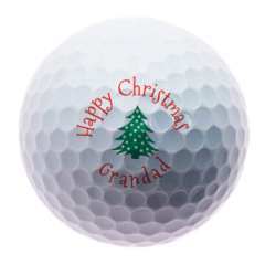 Christmas Tree for Grandad personalised golf balls | Best4Balls