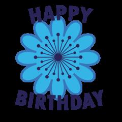 Happy Birthday Blue Flower Cute Birthday Golf Ball | Best4Balls
