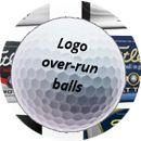 TaylorMade Logo over-run golf balls