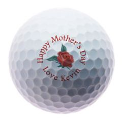 Happy Mothers Day flowers personalised golf balls | Best4Balls