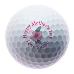 Flower design Happy Mothers Day personalised golf balls | Best4Balls