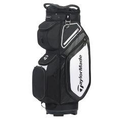 TaylorMade 8.0 Cart Bag-Black/White/Charcoal
