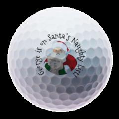 Naughty list Christmas golf balls | Best4Balls