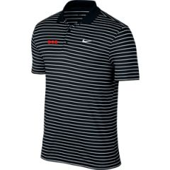 Nike Dri-Fit Tech Stripe Logo Golf Polo Shirt black | Best4Balls