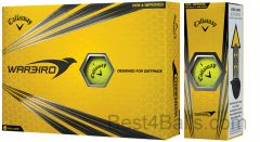 Callaway Warbird Yellow Printed Logo Golf Balls | Best4Balls