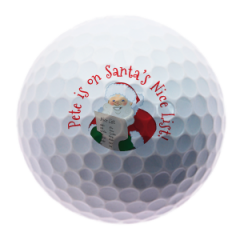 Santa's Nice List Personalised Christmas golf balls | Best4Balls