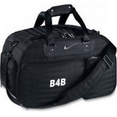 Personalised Nike Departure Small Duffle Bag (Black/Silver) | Best4Balls
