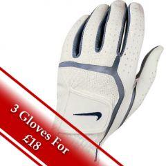 Nike Ladies Dura Feel Golf Glove in White/Navy | Best4Balls