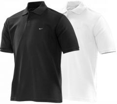 Nike Dri-Fit Movement Polo Golf Shirt - White