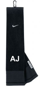Personalised Nike Tri-Fold Golf Towel Blue Red | Best4Balls
