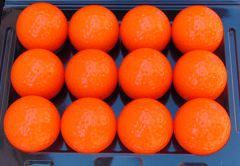Personalised Non-Branded orange golf balls | Best4Balls