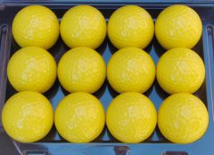 Personalised Non-Branded Yellow golf balls | Best4Balls