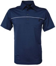 Adidas Climacool Pocket Mesh Golf Polo in Navy | Best4Balls