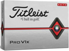 NEW Titleist Pro V1x High Number Golf Balls Personalised | Best4Balls
