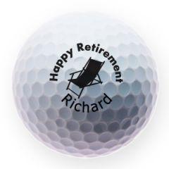 Happy Retirement personalised golf balls | Best4Balls