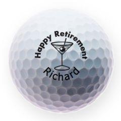 Personalised retirement golf balls | Best4Balls