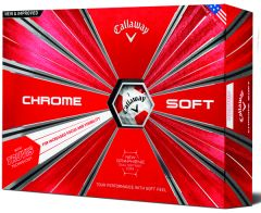 Chrome Soft Truvis Red White Golf Balls | Best4Balls