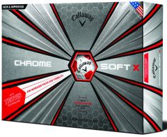Callaway Chrome Soft X Truvis White and Red | Best4Balls