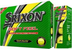 Srixon Soft-Feel Yellow printed Logo Golf Balls | Best4Balls