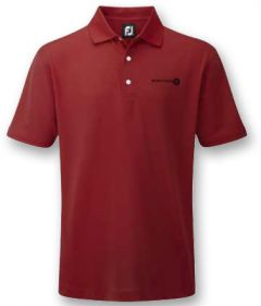 FootJoy Stretch Pique Solid Colour in Red | Best4Balls