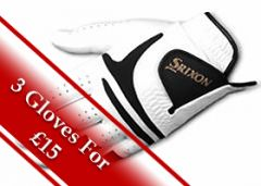 Srixon All Weather Golf Glove - White