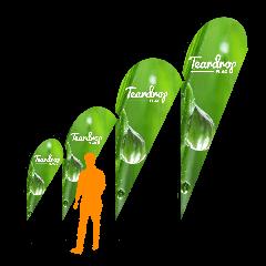 Teardrop logo printed banner | Best4Balls