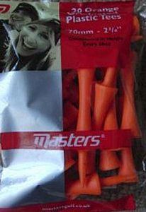 Orange Plastic Golf Tees
