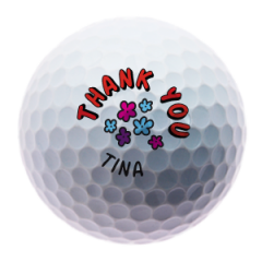 Personalised Thank You golf balls |  Best4Balls