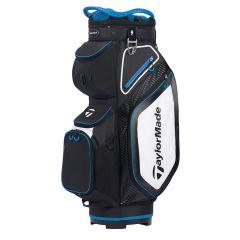 TaylorMade 8.0 Cart Bag-Black/White/Blue