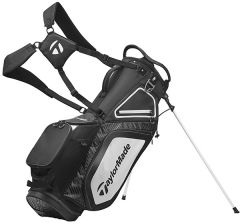 TaylorMade 8.0 Stand Bag-Black/White/Charcoal