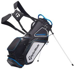 TaylorMade 8.0 Stand Bag-Black/White/Blue