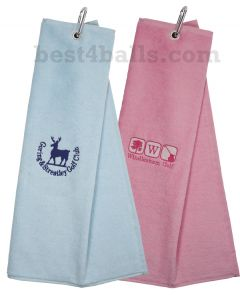 Logo Embroidered Classic Plain Velour Golf Towel | Best4Balls