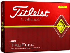 New Titleist DT TruFeel Yellow golf balls |Best4Balls