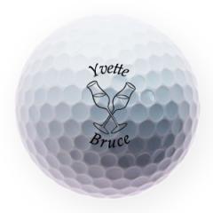 Boozy Toast Valentine's Day Printed Golf Balls | Best4Balls