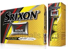 NEW Srixon Logo Printed Tour Yellow Z-Star Golf Balls | Best4Balls