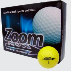 Zoom Yellow Logo Printed Golf Balls | Best4Balls