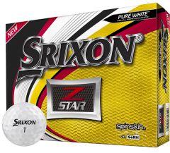 Z-Star Pure White Personalised Srixon Golf Balls | Best4Balls